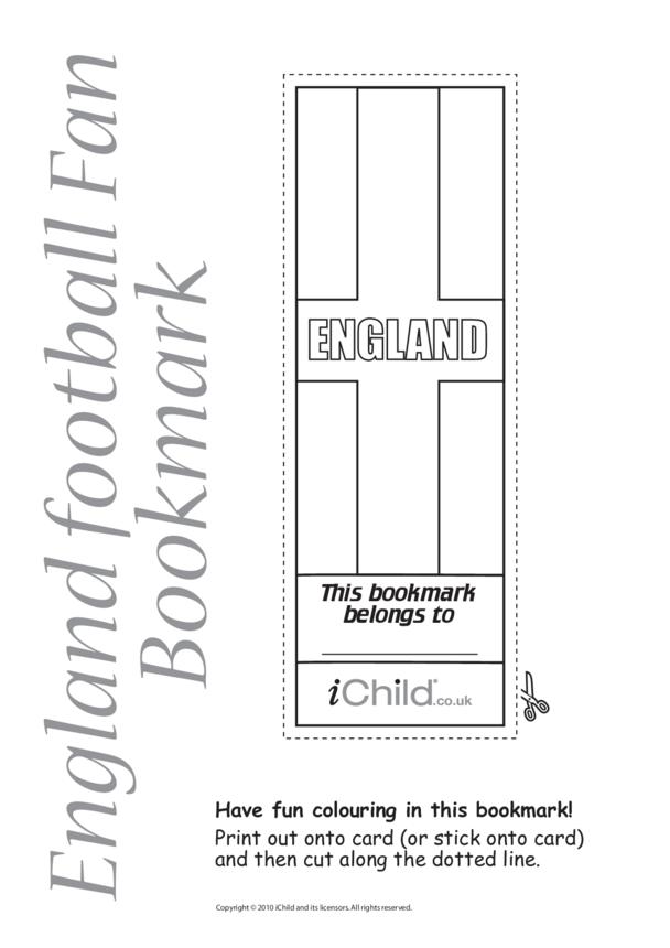 Cricket World Cup England Flag Bookmark