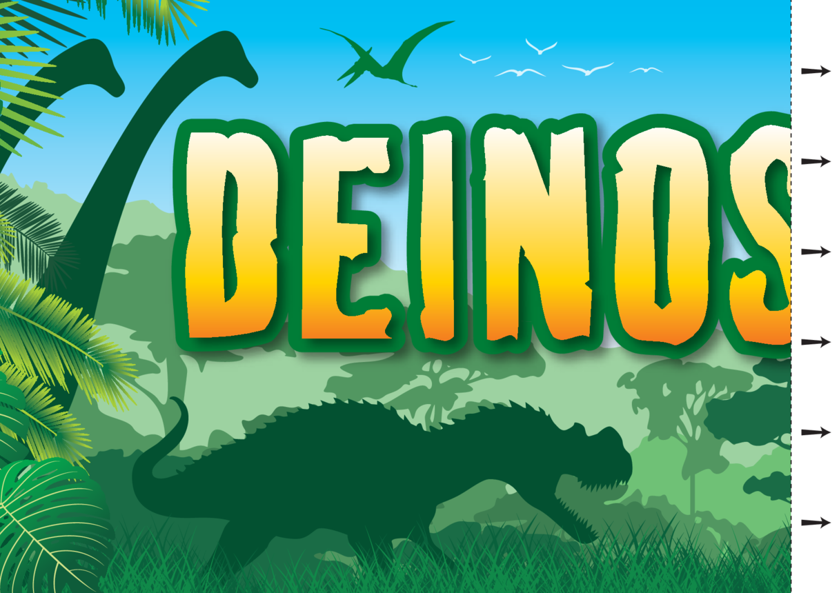 Welsh Language- Dinosaurs Wall Display Banner 2x A4
