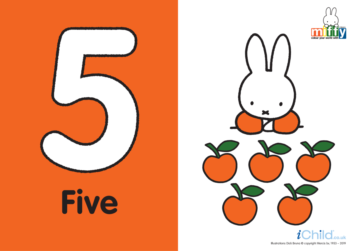 Number 5 with Miffy