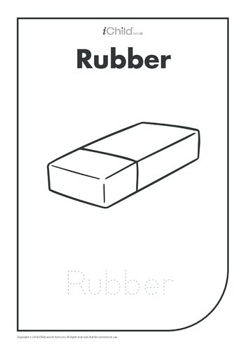 Thumbnail image for the Rubber: Colouring in & Handwriting activity.