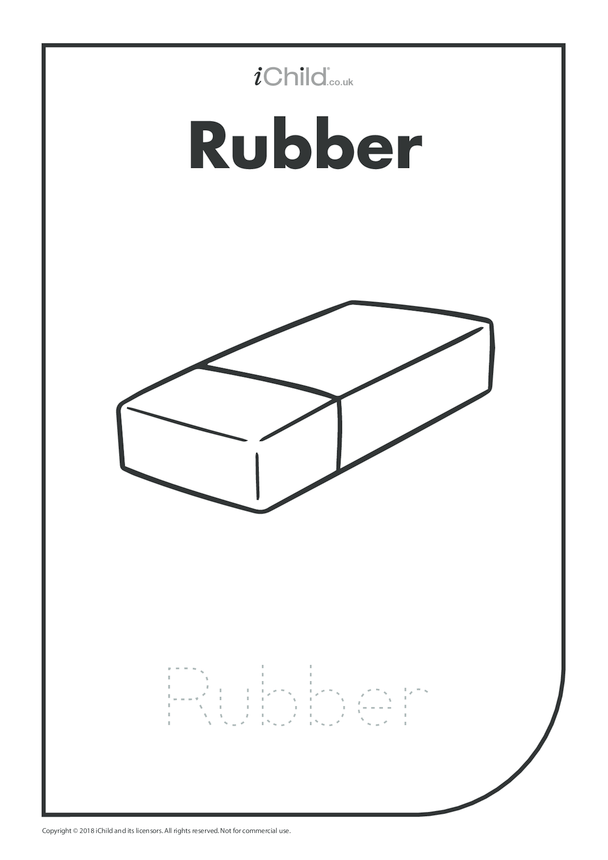 Rubber: Colouring in & Handwriting