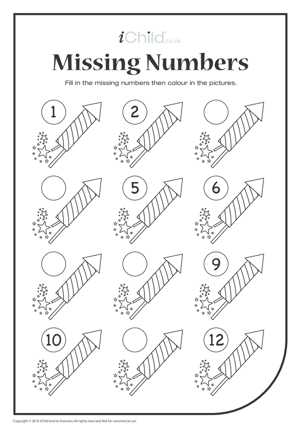 Missing Numbers - Fireworks