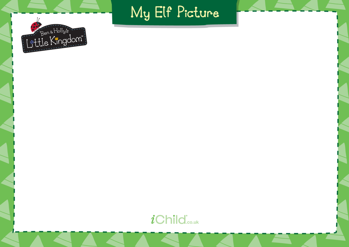 Elf Picture Blank Drawing Template