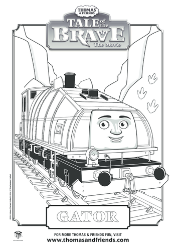 Thumbnail image for the Tale of the Brave, Gator Colouring in Picture (Thomas & Friends) activity.