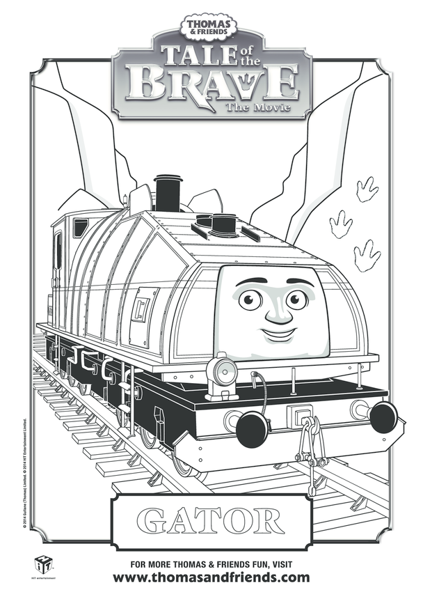Tale of the Brave, Gator Colouring in Picture (Thomas & Friends)