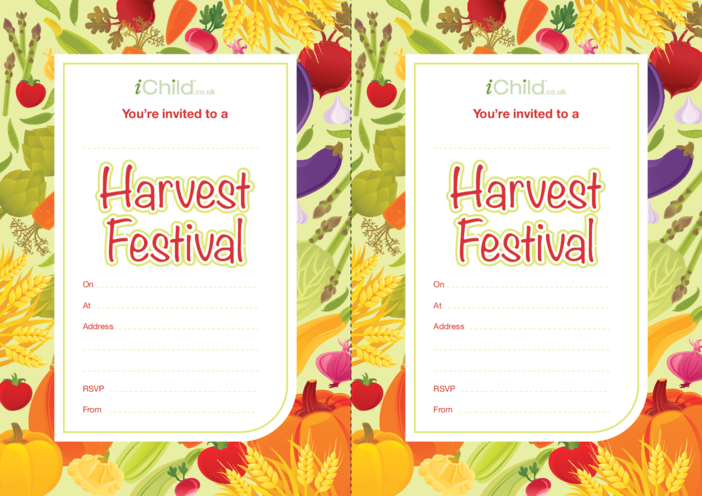 Thumbnail image for the Harvest Festival Invitation activity.