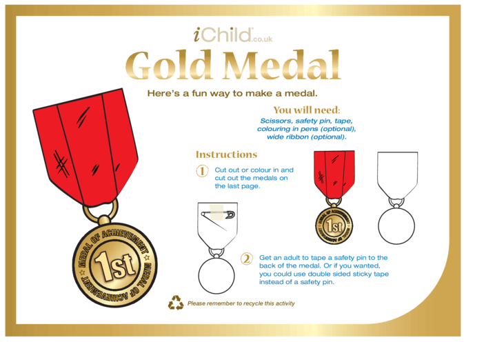 Thumbnail image for the Make a Gold Medal activity.