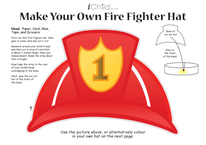 Thumbnail image for the Make a Fire Fighter Hat Craft activity.