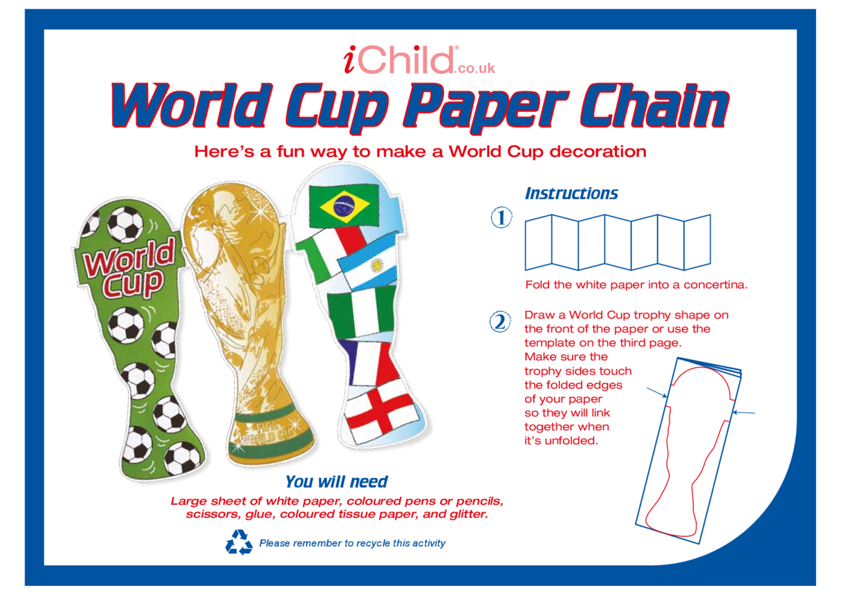 World Cup Paper Chain