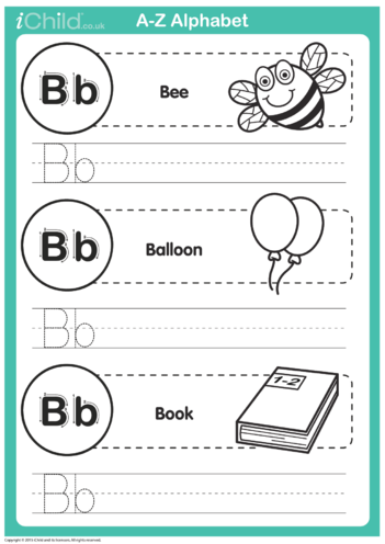 Thumbnail image for the B: Write the Letter B activity.