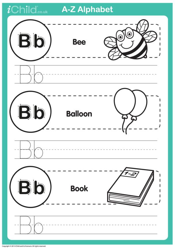 B: Write the Letter B