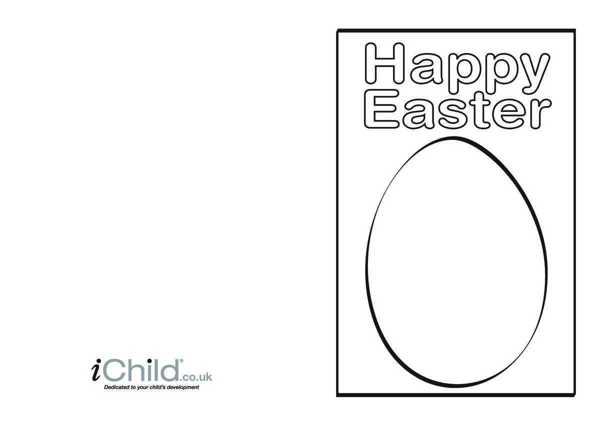 Easter Card - Blank Egg