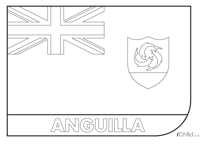 Thumbnail image for the Anguila Flag Colouring in Picture (flag of Anguila) activity.