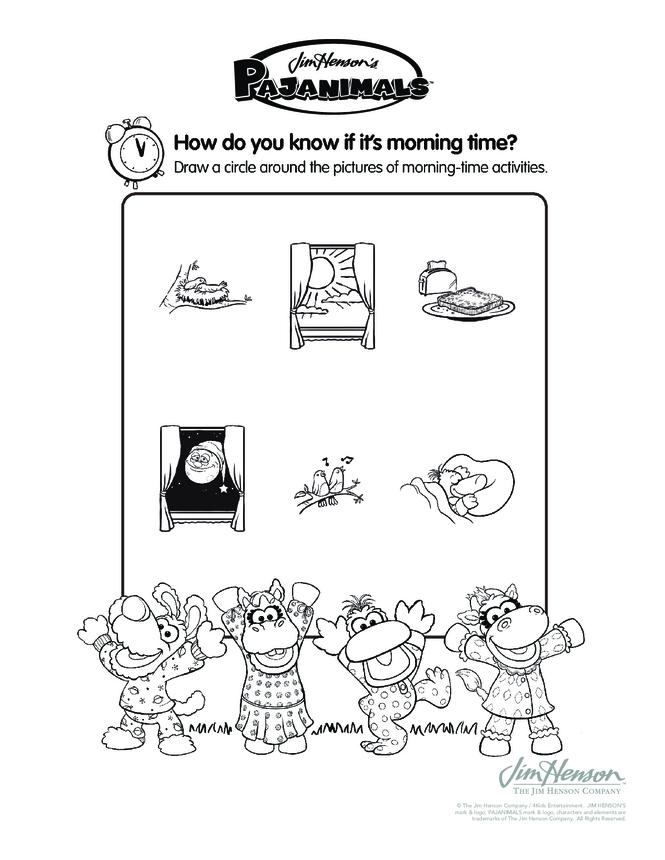 Pajaminals Morning Time Activities
