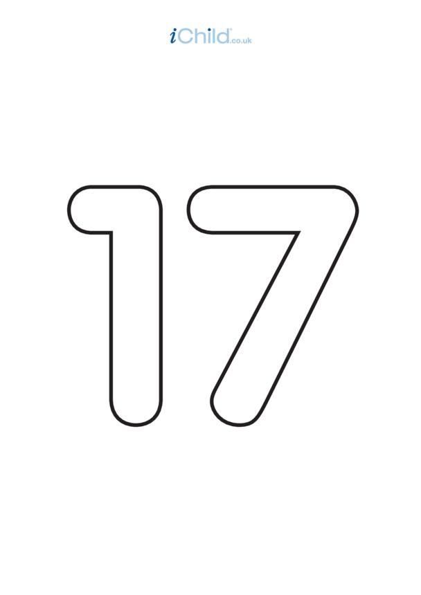 17: Poster - Number 17, Black & White