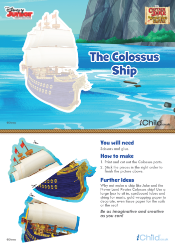 Thumbnail image for the Captain Jake and the Never Land Pirates: Colossus Ship Puzzle- Disney Junior activity.