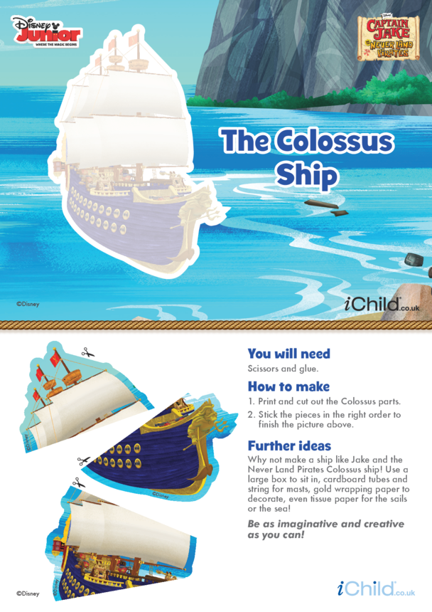 Captain Jake and the Never Land Pirates: Colossus Ship Puzzle- Disney Junior