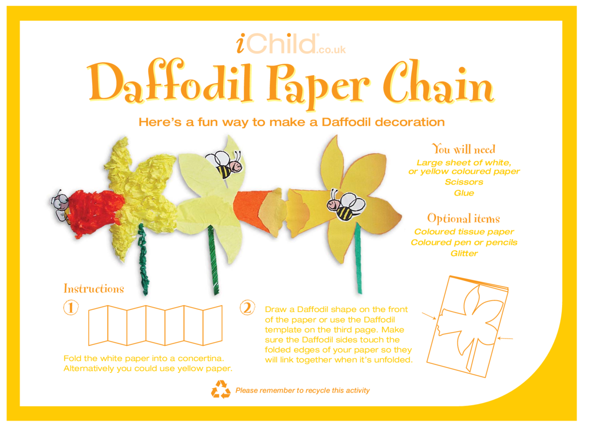 Spring Daffodil Paper Chain