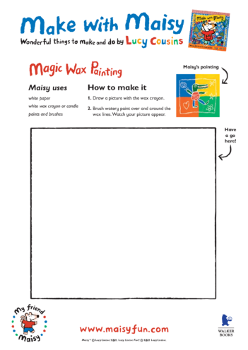 Thumbnail image for the Maisy Wax Painting activity.