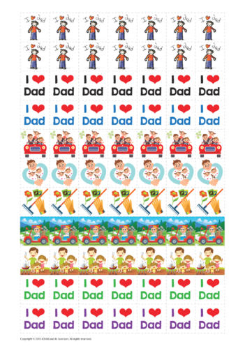 Thumbnail image for the Father's Day Reward Chart Sticker Sheet activity.