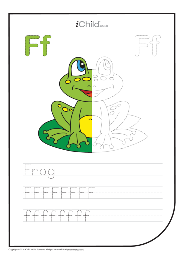 F: Write the Letter F for Frog