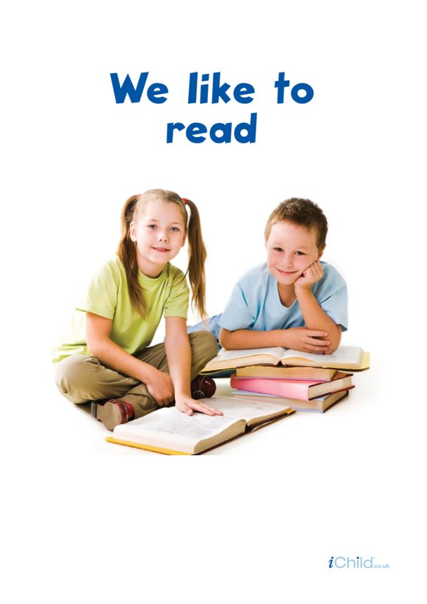 We Like to Read Poster