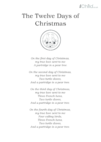 Thumbnail image for the Christmas Carol Lyrics: The Twelve Days of Christmas activity.