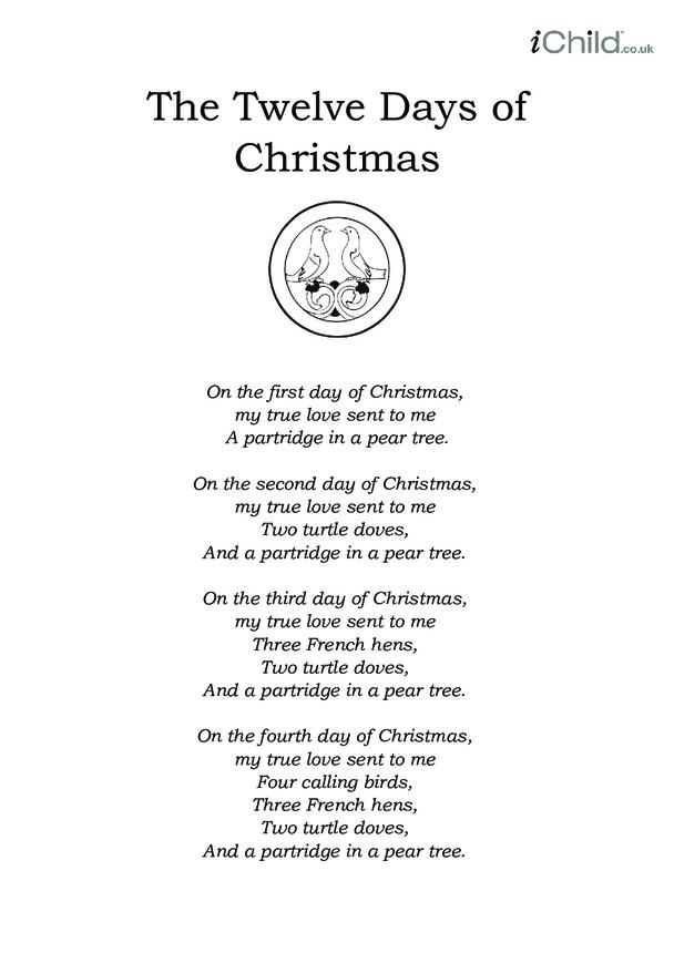 Christmas Carol Lyrics: The Twelve Days of Christmas