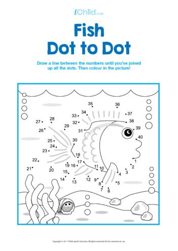 Thumbnail image for the Fish Dot to Dot activity.