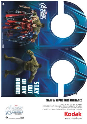 Thumbnail image for the Avengers Assemble Door Hanger activity.