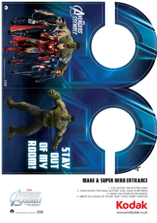 Avengers Assemble Door Hanger
