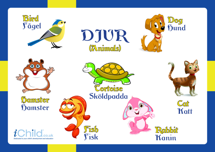 Thumbnail image for the Animals in Swedish activity.