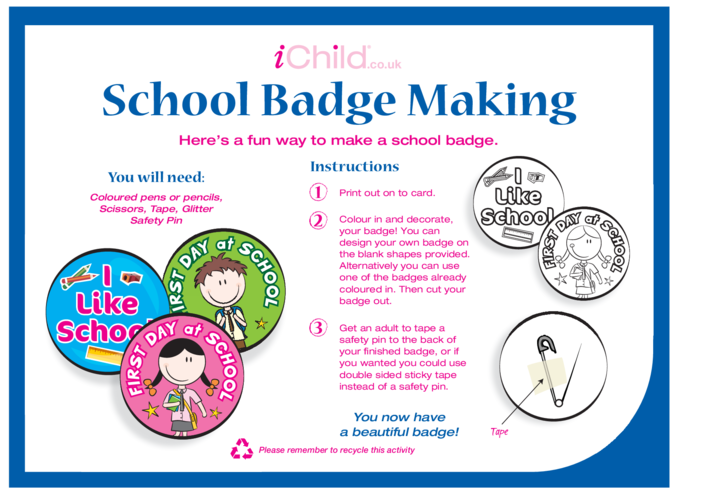 Thumbnail image for the School Badge Making Craft activity.