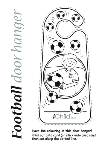 Thumbnail image for the Football Door Hanger activity.