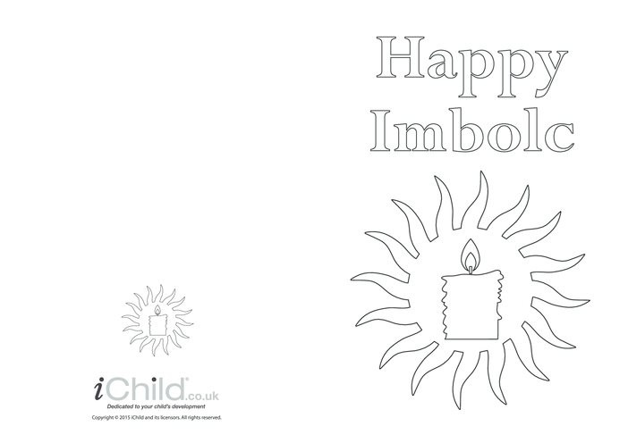 Thumbnail image for the Imbolc Greeting Card (with candle) activity.