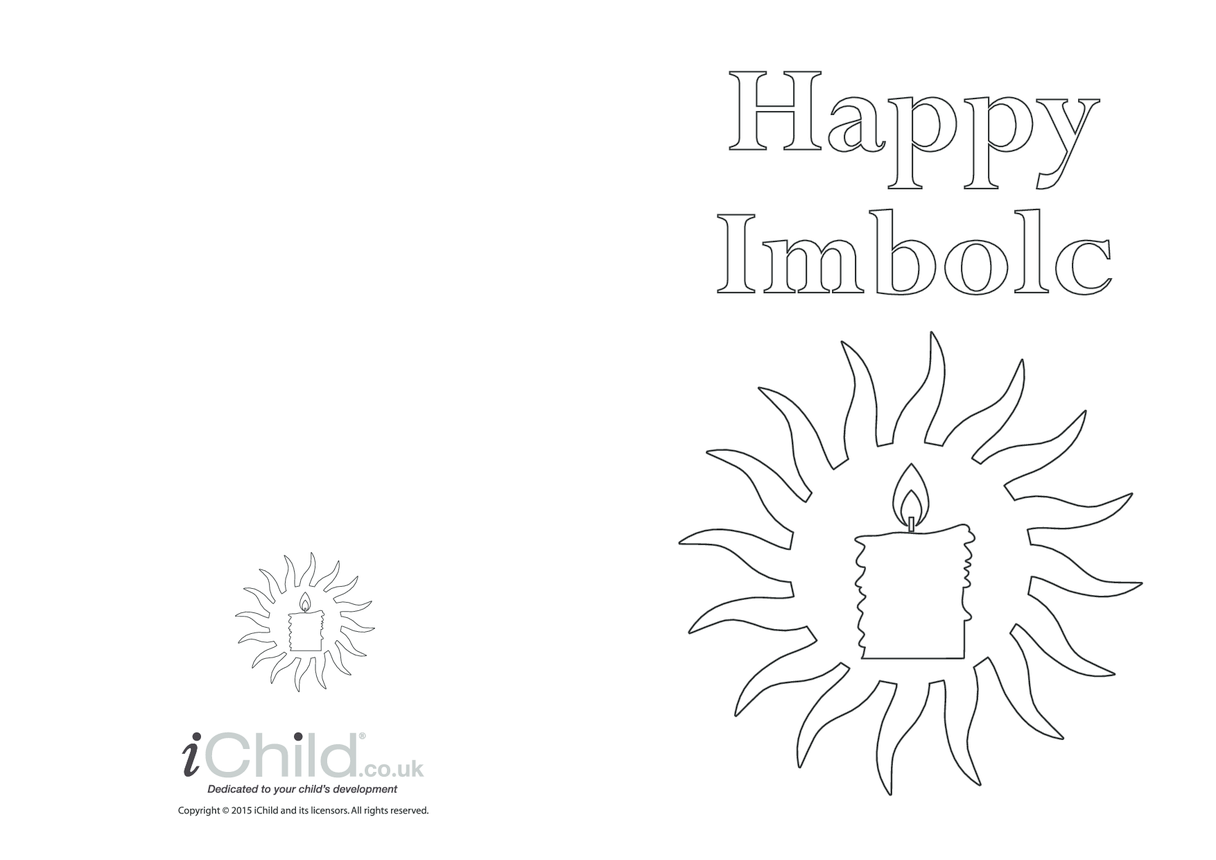 Imbolc Greeting Card (with candle)