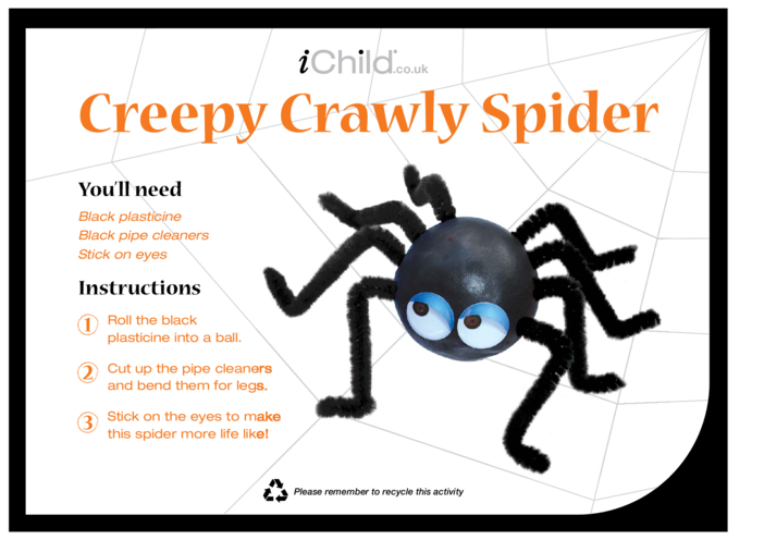 Thumbnail image for the Creepy Crawly Spiders activity.