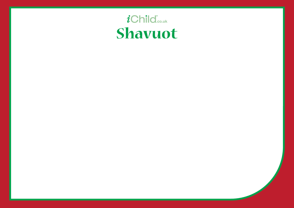 Shavuot Blank Drawing Template
