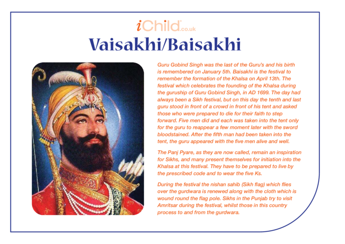Thumbnail image for the Vaisakhi/Baisakhi Religious Festival Story activity.