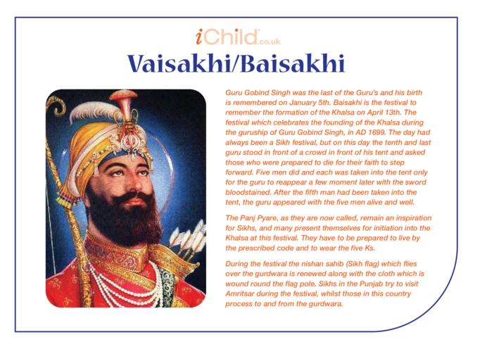 Thumbnail image for the Vaisakhi/Baisakhi Religious Festival Story activity.