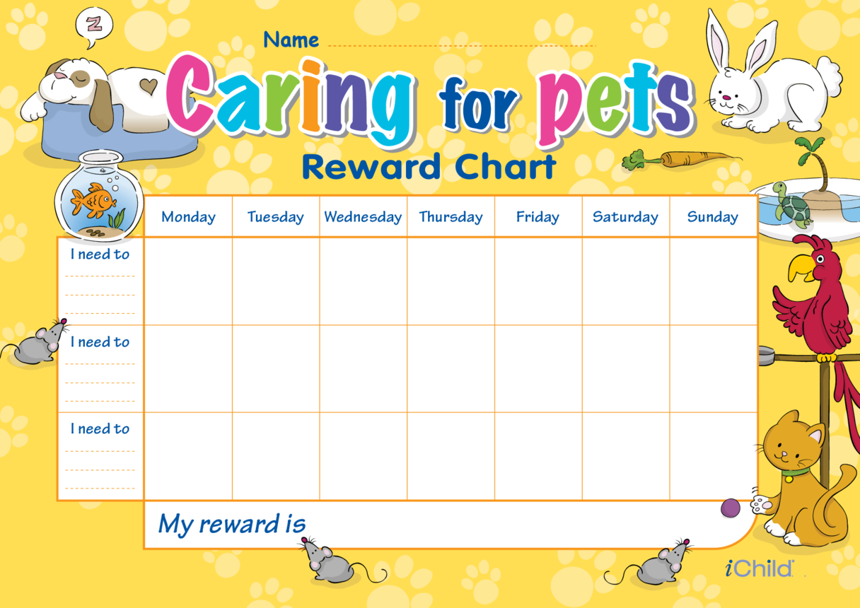 Caring for Pets Reward Chart