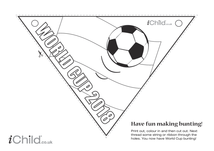 Thumbnail image for the World Cup Bunting 2018 (black & white) activity.