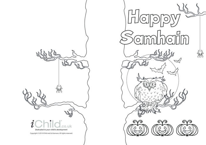 Thumbnail image for the Happy Samhain Card activity.