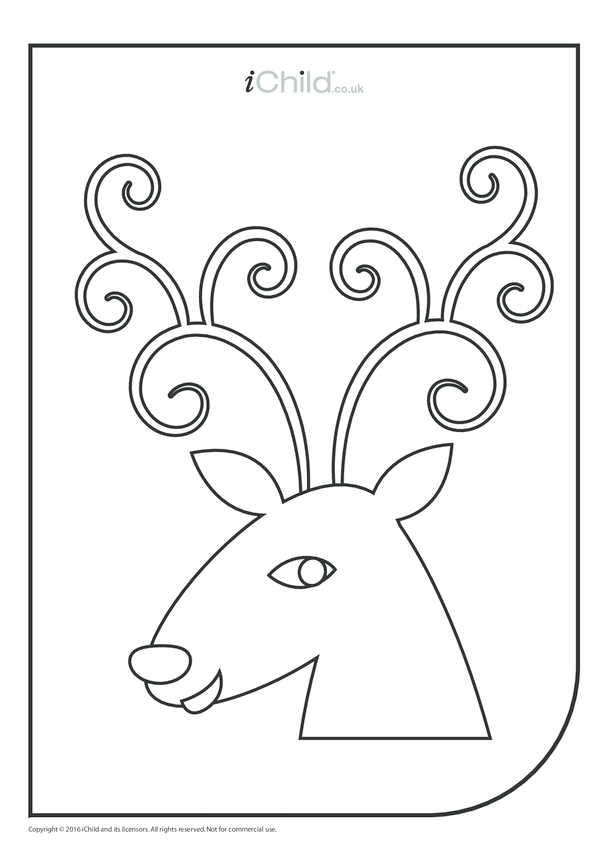 Reindeer Colouring in Picture