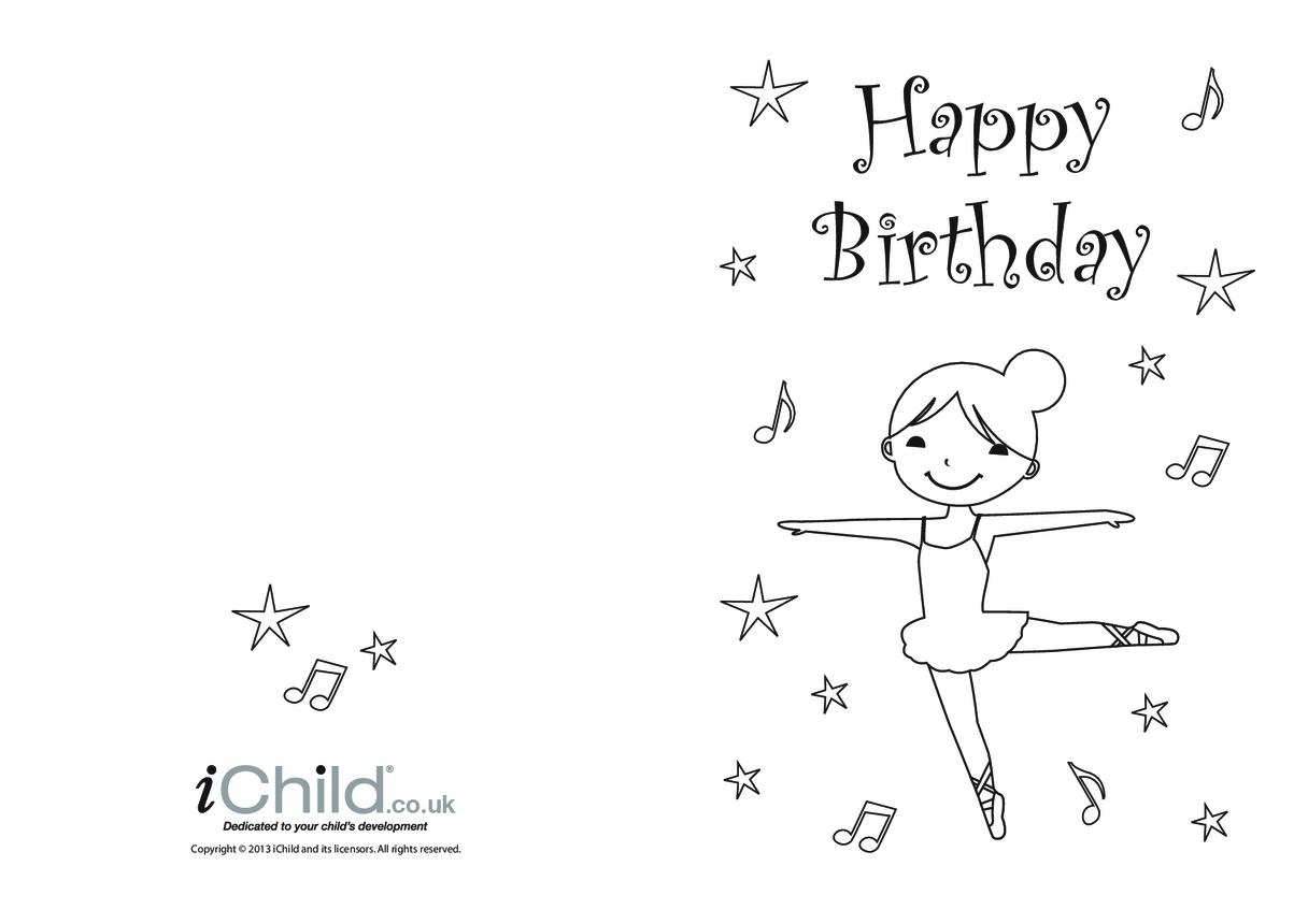 Birthday Card design template - Ballet