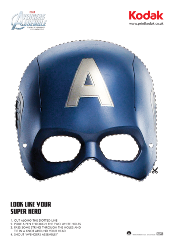 Thumbnail image for the Captain America Face Mask activity.