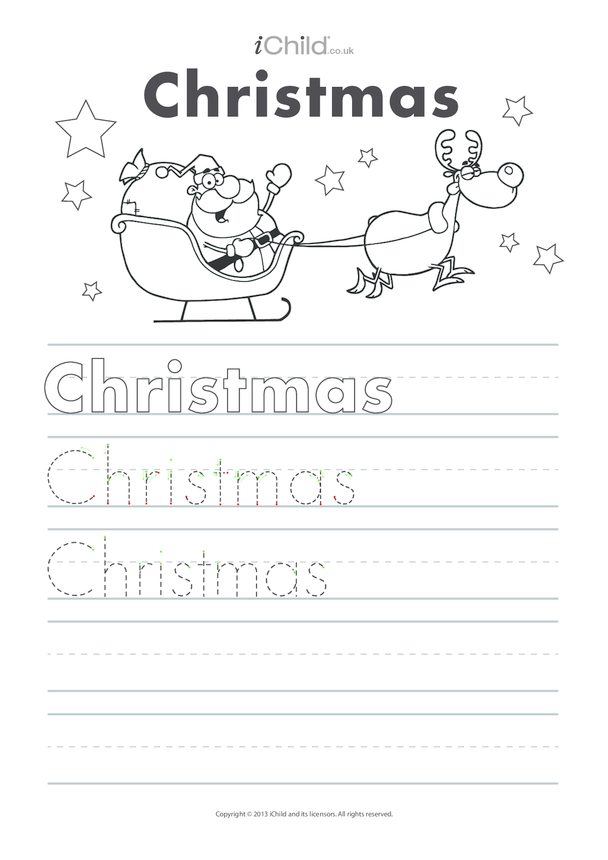 Christmas Handwriting Practice Sheet