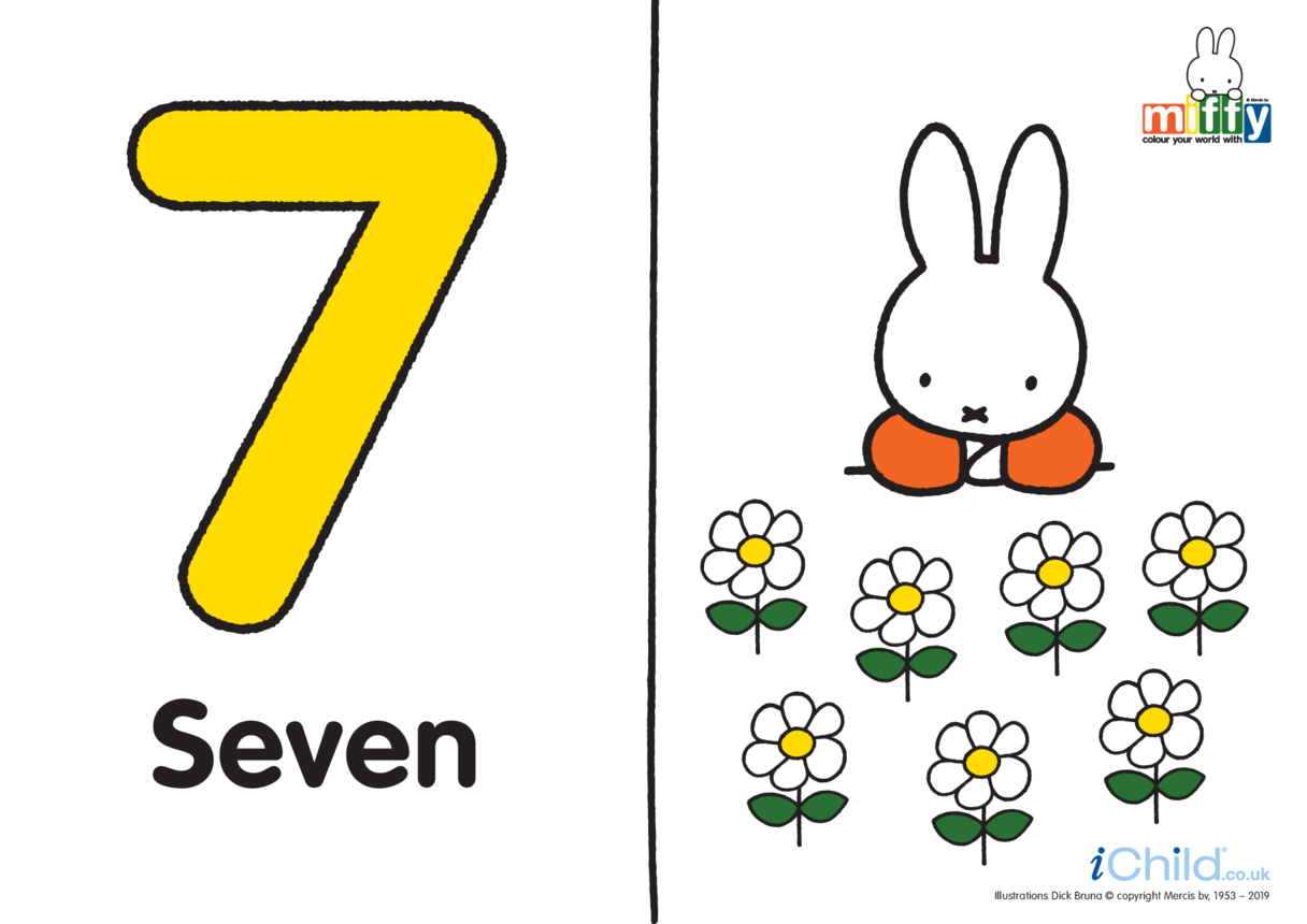 Number 7 with Miffy (less ink)