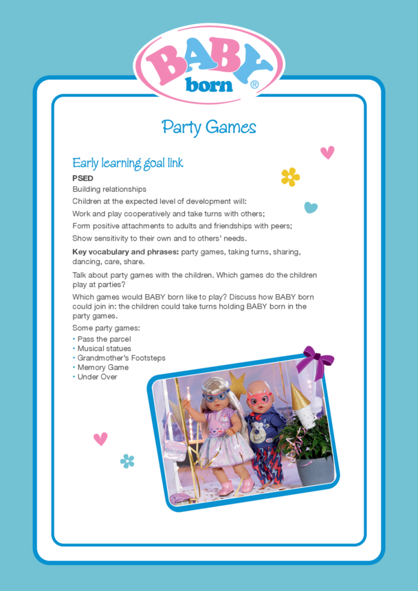 2021 BABY born Activity 3 Party Games