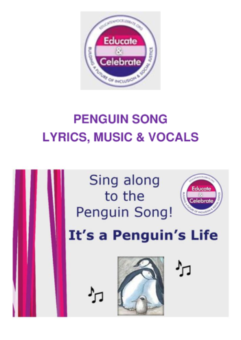 Thumbnail image for the Sing along: It's a Penguin's Life! (follows KS1 PowerPoint) - Educate & Celebrate: activity.